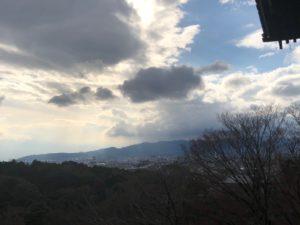清水からは京都市を見渡せます